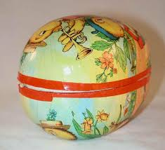 paper mache egg german colorful paper mache easter egg candy container