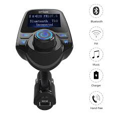 amazon com fm transmitter otium bluetooth wireless radio adapter