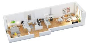 When An Apartment Is Long Like This One Its Important To Make It - Design one bedroom apartment