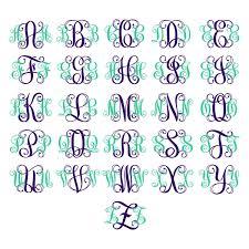 monogrammed fonts interlocking vine outline 2 monogram svg cuttable fonts apex