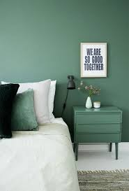 trend to try painting furniture to match your wall decorating
