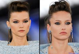 front poof hairstyles front flat poofs at the chanel s ultra feminine with added