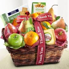 thank you basket thank you fruit basket with cheese and nuts ap8019t a gift inside