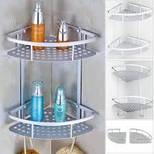 wall shelves bathroom aluminum 2 tier wall shelf shower shelf shampoo holder bathroom