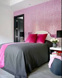 Pink Themed Bedroom - gray pink modern bedroom just decorate
