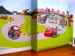disney cars wallpaper for bedrooms pierpointsprings com cars mural in emma bunton baby spice s eldest son room here similiar vehicle murals keywords