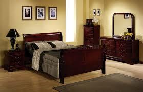 interior astonishing bedroom with dark walnut frame platform bed