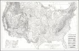 Black And White Map Of The United States by Agcultures