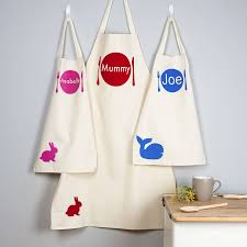 personalised and child apron set by littlechook personalised