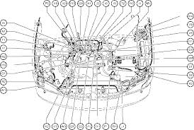 position of parts in engine compartment toyota sienna 1997 2003