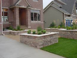 large and square cream brick wall planter box combined with white