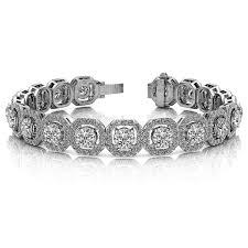bracelet diamond designs images 13 45ct fine diamond designer halo bracelet octagon shaped jpg