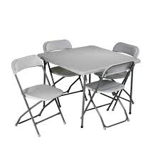 Cosco Folding Table And Chairs Folding Card Table And Chairs 5 Pc Set