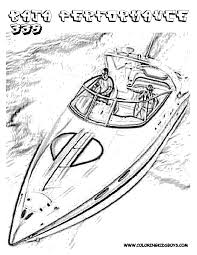 coloring boat coloring page