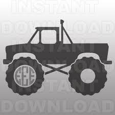 monster trucks clipart monster truck monogram svg file cutting template vector clip
