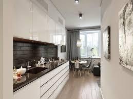 cuisine lineaire comment aménager une cuisine en longueur types avantages et astuces