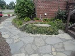 new york blue irregular flagstone walkway design and creation by