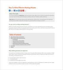 how to write sample meeting minutes u2013 8 free online tutorials