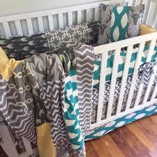 Chevron Boy Crib Bedding Rustic Deer Crib Bedding Woodland Baby Bedding Boy Crib