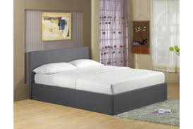 richmond grey fabric ottoman storage bed double