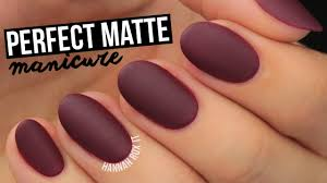 how to get the perfect matte mani youtube