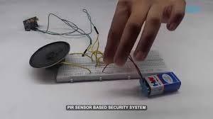pir sensor based security system youtube
