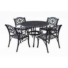 Round Patio Furniture Set 4 5 person patio dining furniture patio furniture the home depot