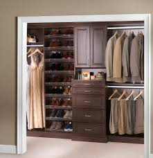 Home Depot Furniture Closet Dark Brown Closet Systems Home Depot With 5 Drawers For