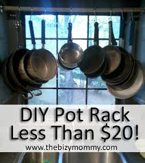 Pots And Pans Cabinet Rack Diy Pot Rack Extra Cabinet Space For Less Than 20 Atlantas
