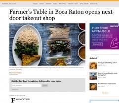 farmers table boca raton farmer s table express a new concept in boca raton offers fresh