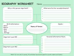 writing a biography graphic organizer informative biography tina wiggins lone oak middle school