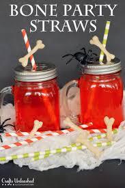 halloween party craft diy halloween party bone straws tutorial crafts unleashed