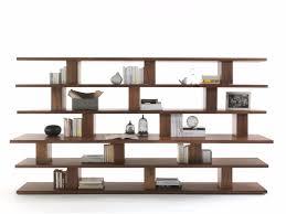 Free Standing Bookshelves Cabinet U0026 Storage Stylish Solid Wood Bookcase Unique Design 6 Open