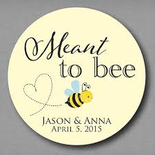 wedding favor labels aliexpress buy meant to bee honey favor labels meant to be