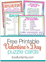 valentine u0027s day puzzle cards a free printable