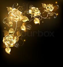 gold roses twisted gold roses on a black background gold stock