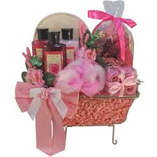 Funny Gift Baskets Pretty In Pink Rose Bathtub Spa Bath And Body Gift Basket Set