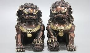 foo dog free shipping 6 royal fensghui animal bronze copper