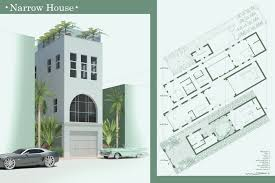 chic narrow house plans by narrow house 800x1038 myhousespot com