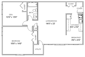 one bedroom floor plan apartment floor plans one bedroom den apartments in clifton park