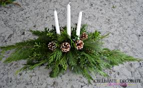 diy evergreen christmas centerpiece celebrate u0026 decorate