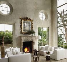 decorations rustic white living room idea with large glass