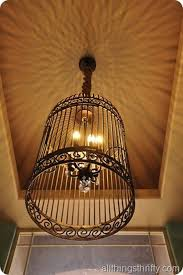 How To Make A Birdcage Chandelier Diy Gorgeous Birdcage Chandelier From A Large Birdcage Instead Of