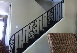 Banister Replacement Ornamental Wrought Iron Staircase Railing Orange County Ca