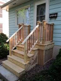 Porch Steps Handrail Some Do Not Care For Lattice Skirting How Is This For A Different