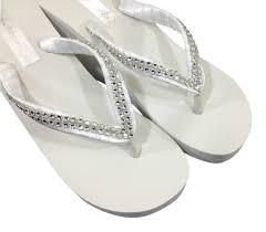 wedding flip flops flip flops bridal wedge flip flops bridal sandals