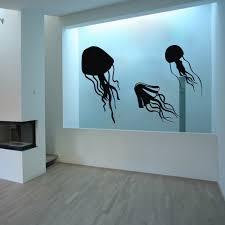 jellyfish tentacles vinyl wall decal wall sticker home aquarium