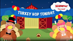 do the turkey hop is a thanksgiving song for