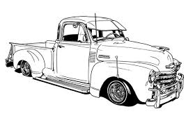 vintage truck color book pages lowrider coloring book