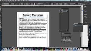 Create A Resume How To Design A Resume Using Adobe Indesign Cc 2014 Youtube